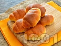 Памук кифлички (козуначени) с локум в хлебопекарна (със суха мая) - снимка на рецептата